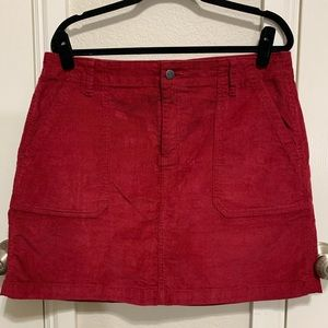 Red Corduroy Old Navy Mini Skirt